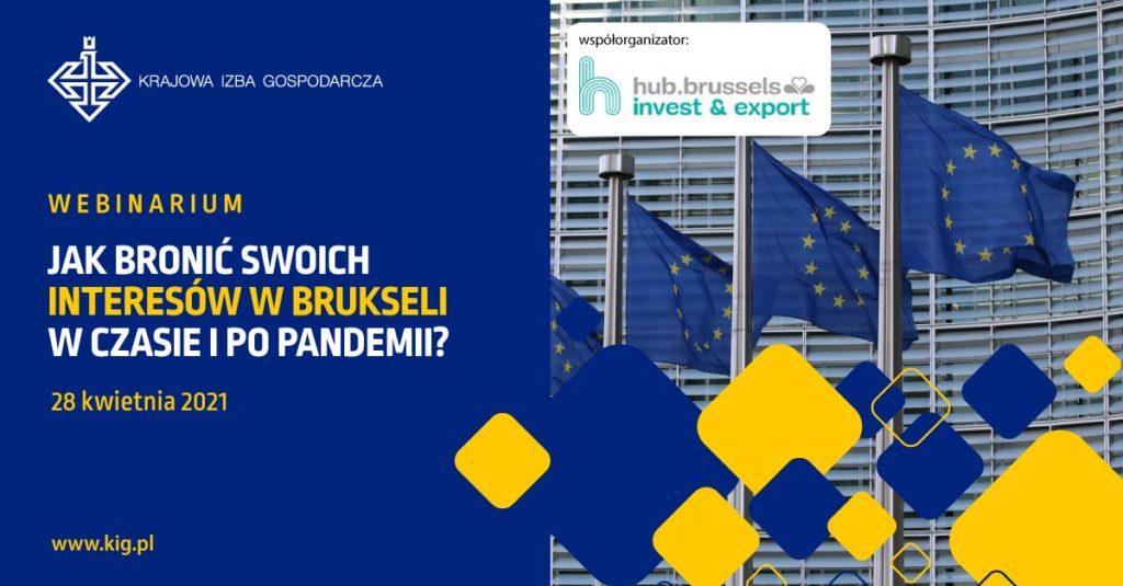 Webinarium: Jak bronić swoich interesów w Brukseli, w czasie pandemii i po pandemii?