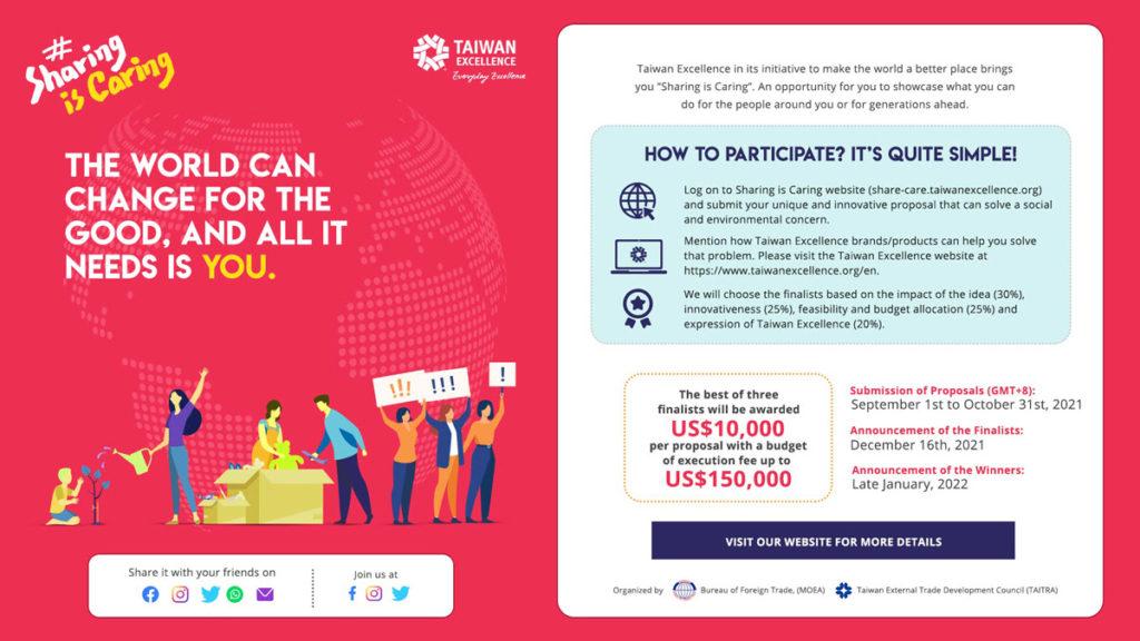 """""""Taiwan Excellence: Sharing is caring"""" – międzynardowy konkurs wydarzeń filantropijnych"""